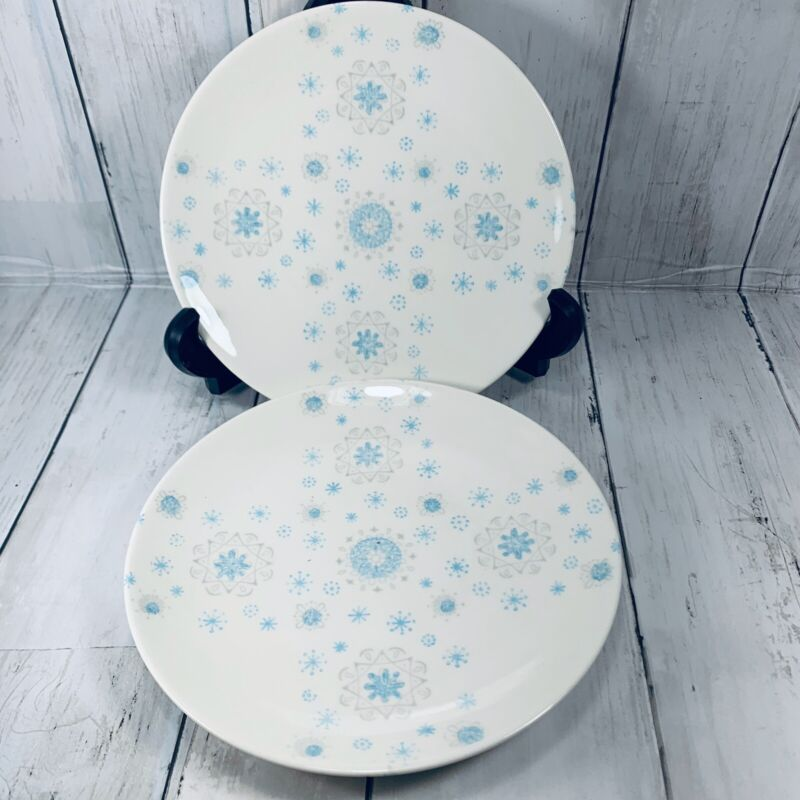 """Vintage Mid-Century Modern Salad Plate in Blue Ice by Royal China 7"""""""