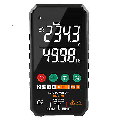 Digital Multimeter Auto-ranging 6000 Counts Trms Frequency Capacitance Voltmeter