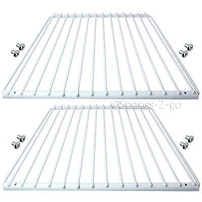 2 X Fridge Shelf for Bosch Refrigerator White Plastic Coated Adjustable Rack