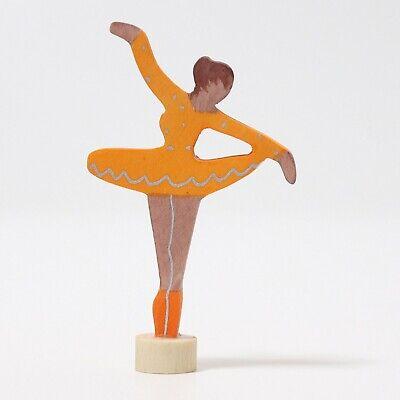 Grimms 03327 Steckfigur Ballerina Orangenblüte orange für Geburtstagsring