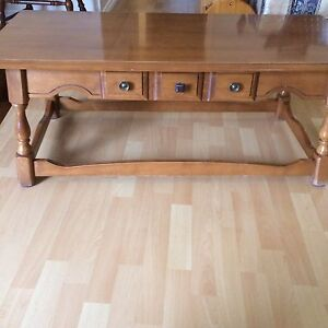Vilas maple coffee table and two end tables