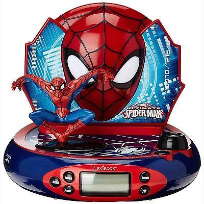 MARVEL ULTIMATE SPIDERMAN PROJECTOR ALARM CLOCK RADIO NEW by LEXIBOOK SPIDER-MAN