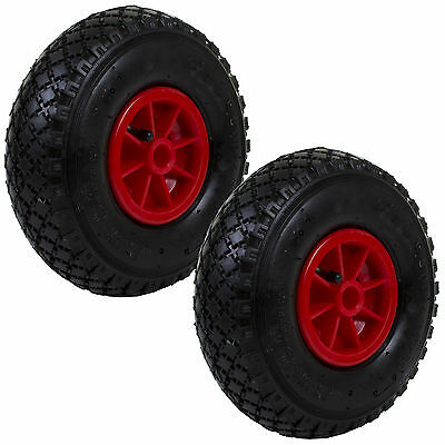 2x 3.00x4 Heavy Duty Sack Truck Wheel Rubber Pneumatic Tyre Barrow Replacement