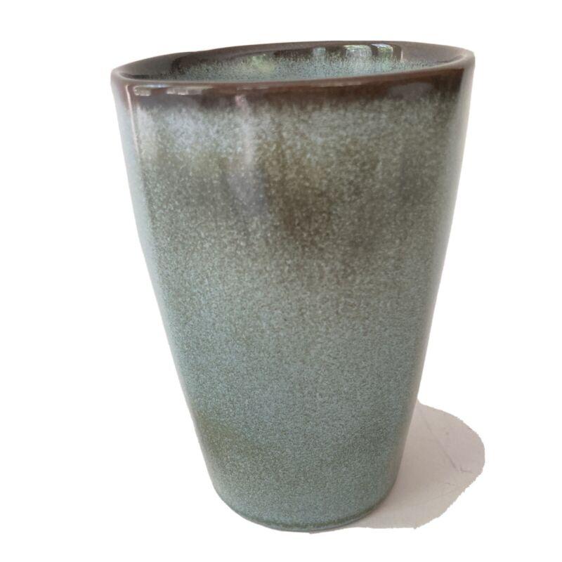 Frankoma Pottery Tumbler 12oz 5L  Plainsman Woodland Moss Ada Clay Cup