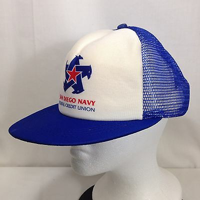 San Diego Navy Federal Credit Union Hat Submarine Military Ball Cap Mesh Trucker