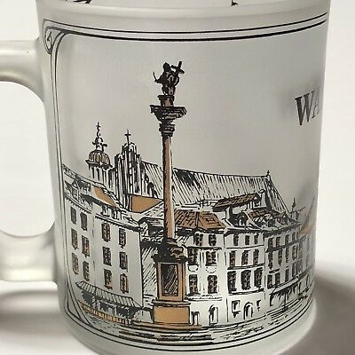Warsaw (Warszawa) Poland Frosted Glass Coffee Cup Mug 11-1/2 oz Old City Images