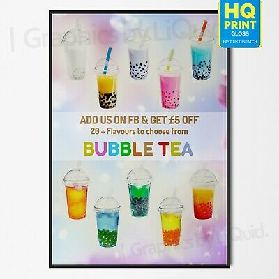 Bubble Tea Poster - Bubble Tea Art Drink Food Home Decor Wall Art Poster Print | A4 A3 A2 A1 |