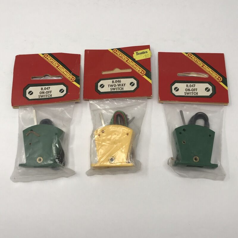 Vintage NOS Hornby Railways R.047 On-Off Switch R.046 Two-Way Switch
