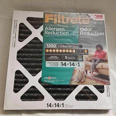 4' Allergen Reduction Filter - Filtrete (4 pack) Allergen Plus Odor Reduction HVAC Furnace Air Filter, 1200 MPR