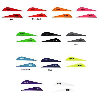 100 Arrow - Heat Vane 100pk Bohning Arrow Fletching Mix Red Blue White Green Yellow Orange +