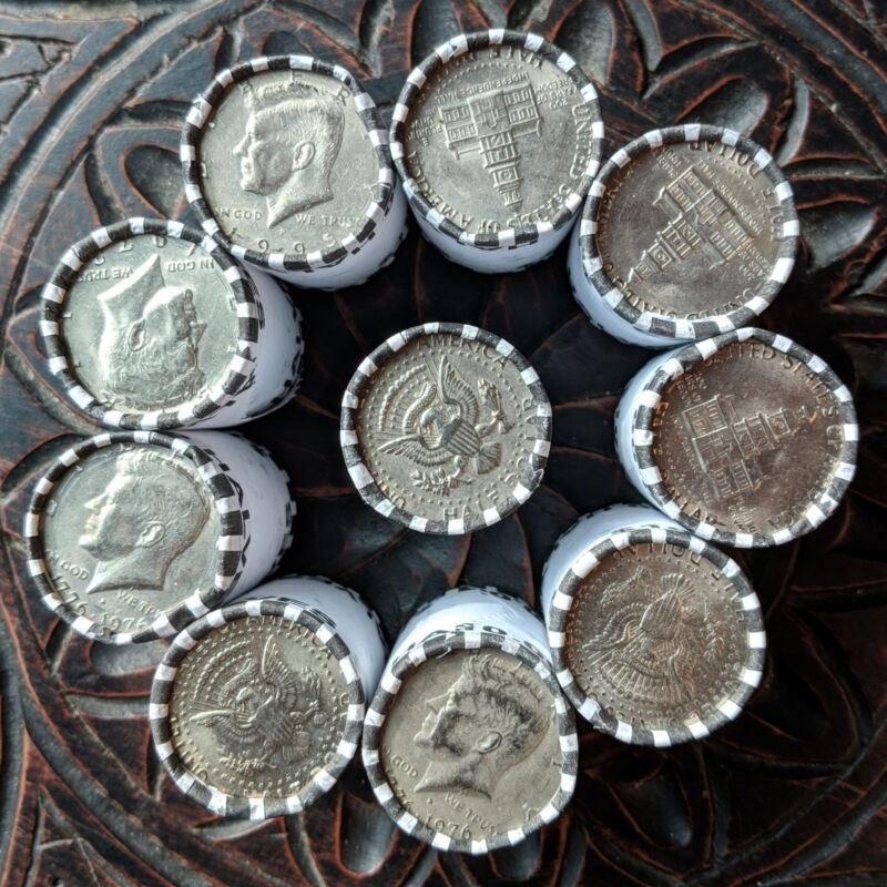 100 Dollars of Kennedy Half Dollar Coins - Unsearched & Bank Sealed Coin Rolls