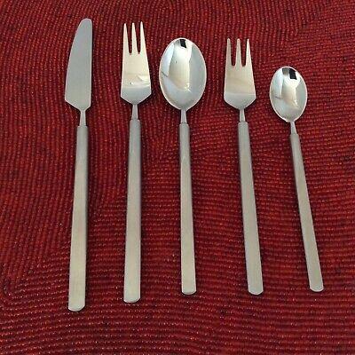 Copenhagen Cutlery Obelisk Erik Herlow 5 Piece Setting Knife Forks Spoons Used