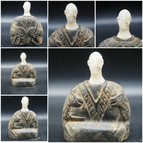 Historic Rare Ancient Majestic Bactria Emperor Unseen Unique Statue  #A41
