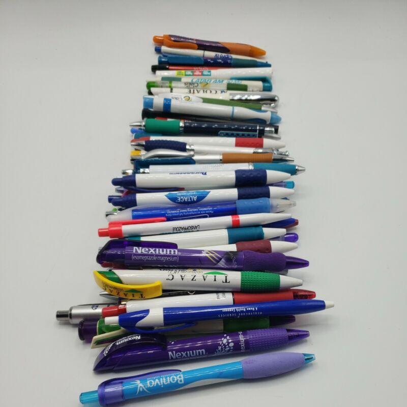 Lot Of 52 Pharmaceutical Drug Rep Pens Pen Pencils Advertisement