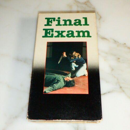 FINAL EXAM VHS Horror Cecile Bagdadi Joel Rice