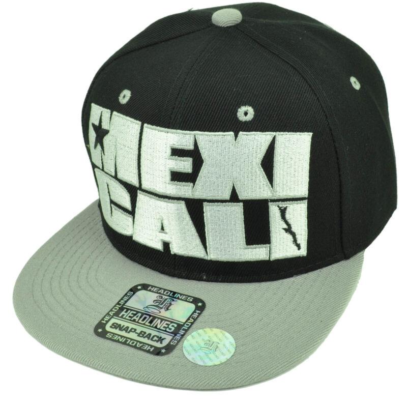 Mexicali City Baja California Mexico Black Gray Hat Cap Snapback Flat Bill Gorra