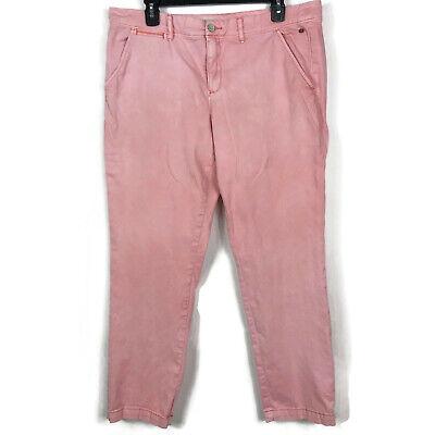 Anthropologie Pilcro Letterpress Pants Hyphen Straight Leg Chino Peach Size 32