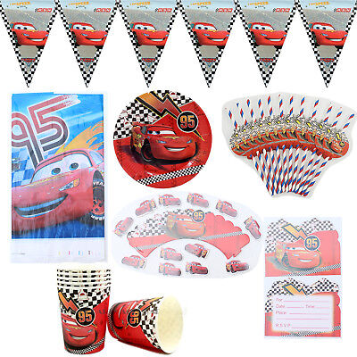 74pcs/lot For 12 Kids Cars Theme Birthday Party Decoration Tableware Set