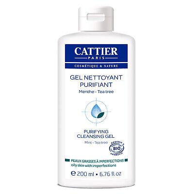 Essential Oils Gel Cleanser - Cattier Purifying Cleansing Gel 200ml Organic Tea Tree Essential Oil Aloe Vera