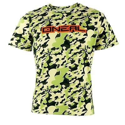 ONeal Piledriver Schwarz T-Shirt Herren Damen Basic Sport Freizeit Rundhals Radsport