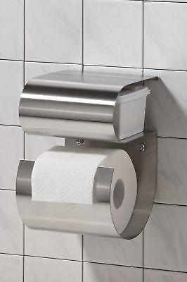 Toilettenpapierhalter incl. Fach für feuchte Tücher,WC-Bürste,Bad,