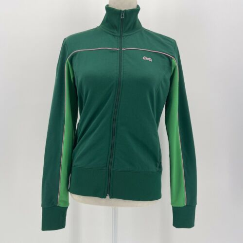 Le Tigre green and pink vintage track jacket women