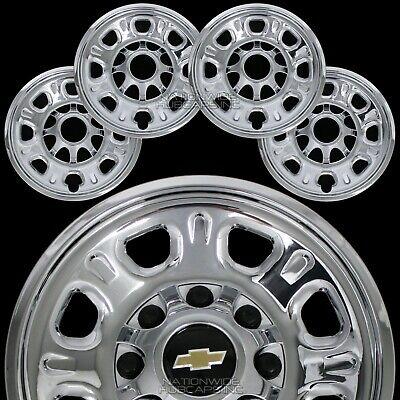 """4 Chevy Silverado 2500 3500 HD 18"""" 8 Lug CHROME Wheel Skins Rim Covers Hub Caps"""