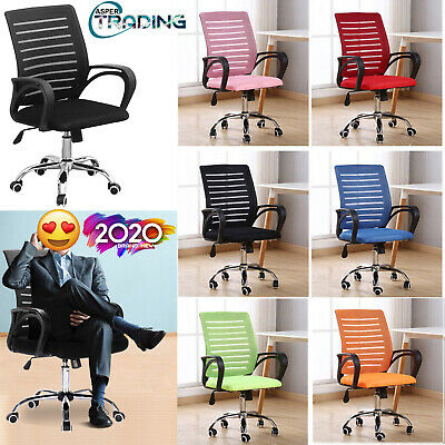 Ergonomic Mesh Office Chair Medium Back Computer Pc Desk Adjustable Swivel Seat