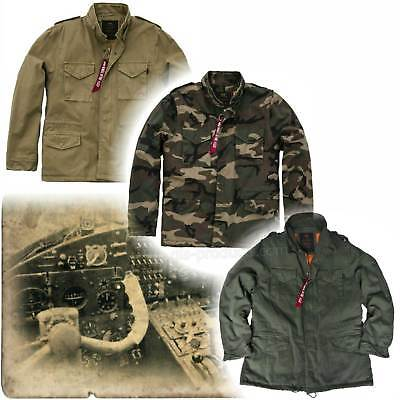 (Alpha Industries Vintage M-65 CW Parka  from Soft Cotton with Warm Winter Lining)