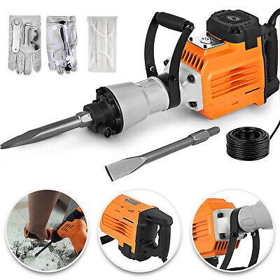Hd 3600 Watt Electric Demolition Jack Hammer Concrete Breaker Punch Chisel Bit