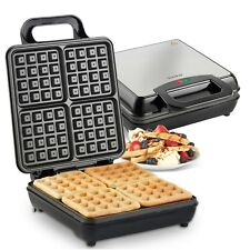 VonShef Waffle Maker Iron Machine Mould Press Belgian Electric 4 Slice Large