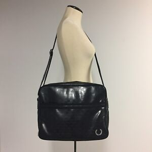 Fred Perry embossed chequerboard shoulder bag (unisex)