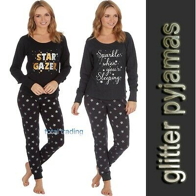 Ladies Womens Pyjamas pj Set Long Sleeve Top Nightwear LoungeWear pajamas new cl