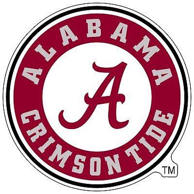 University of Alabama Crimson Tide NCAA Color Die Cut Vinyl Decal / Sticker
