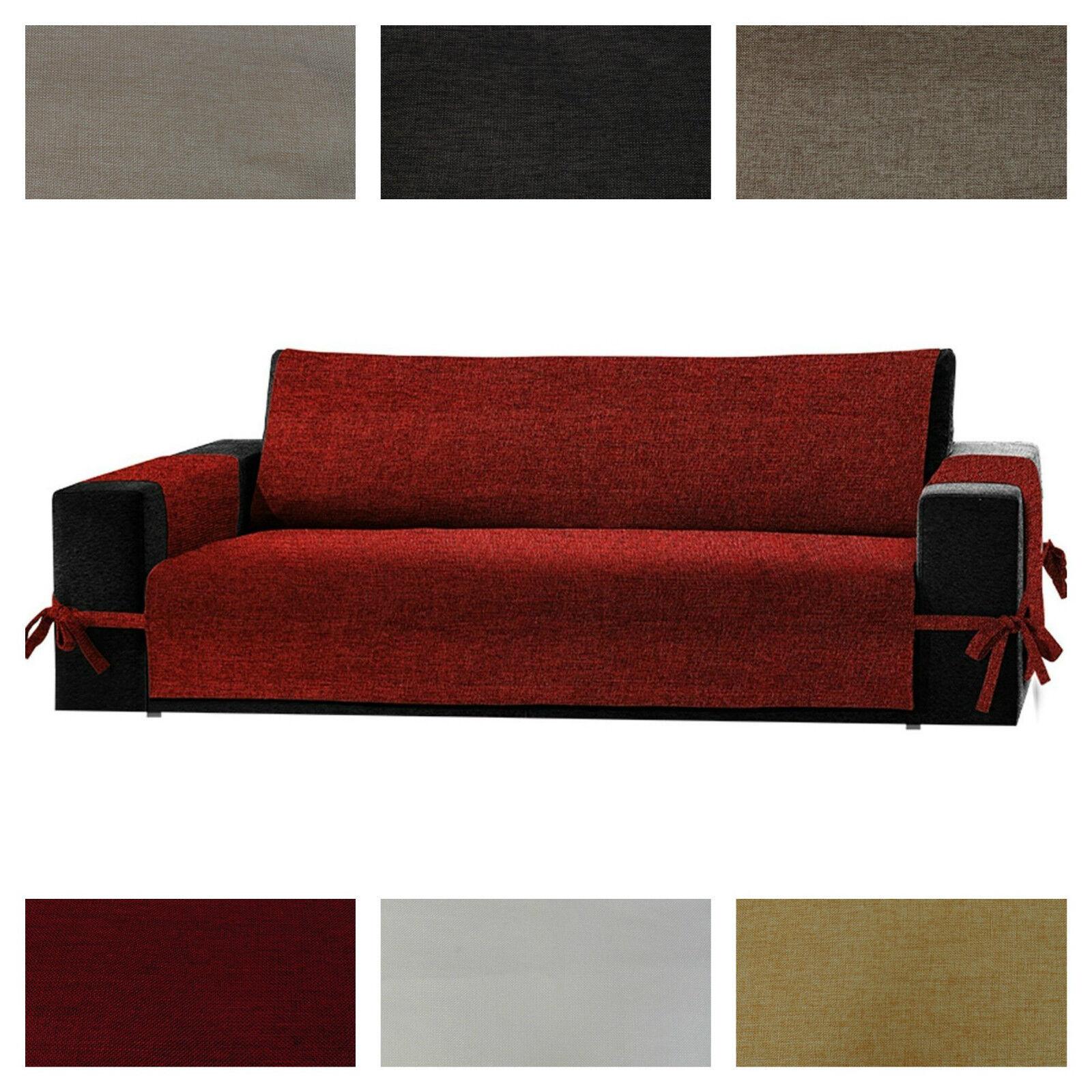 Salvadivano copridivano 2 posti con lacci per divano for Foulard per divani