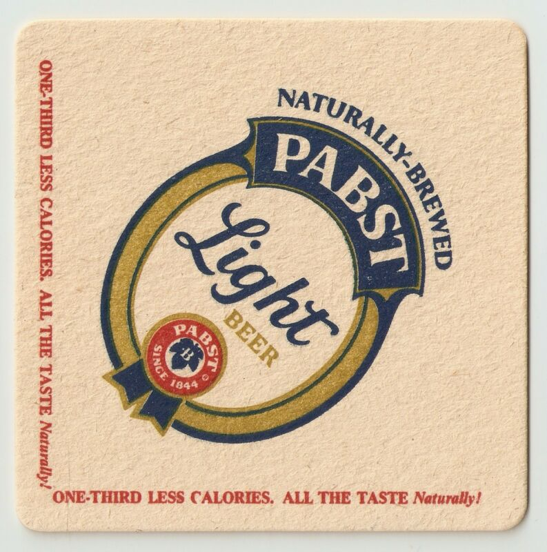 12 Pabst Light The Facts Of Light Beer Coasters  PBR