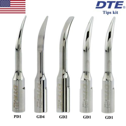 Woodpecker DTE Dental Ultrasonic Scaler Tips Kit GD1 GD2 GD4 PD1 SATELEC ACTEON