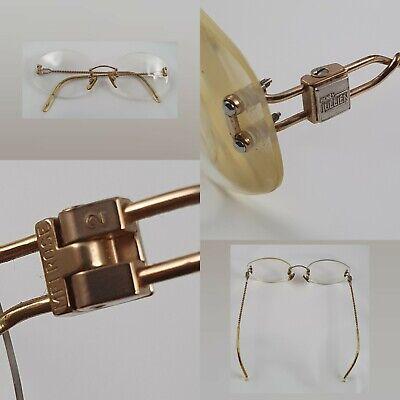 Henry Julien Melrose Eyewear Rimless Vintage Frame High Quality Gold Plated -