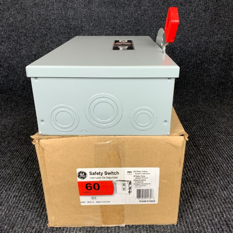 GE THN3362 Safety Switch 100Amp 3P 3Wire 600VAC 250VDC