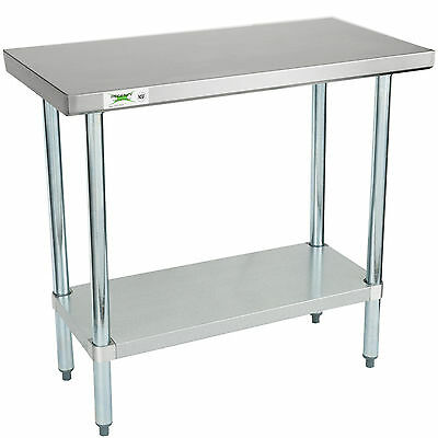 18 X 36 Stainless Steel Work Prep Shelf Table Commercial Restaurant 18 Gauge