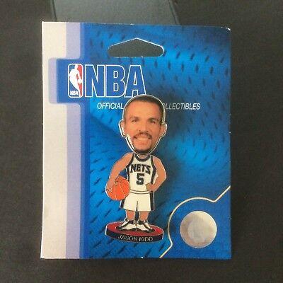 Jason Kidd New Jersey Nets Bobble Head Pin - New - NBA - Bobbing - Lapel - NOS