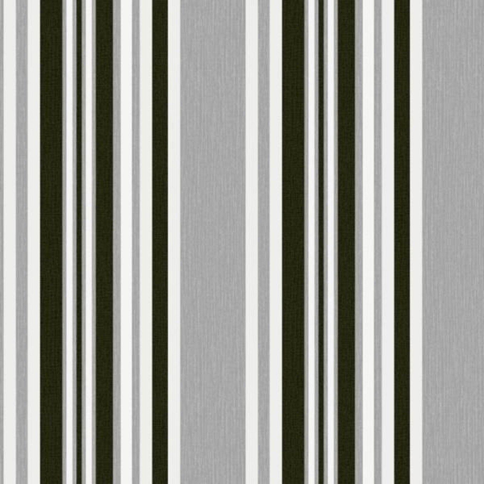 Papier Peint Capitonné Gris détails sur marrakech - debona - tissu rayé papier peint texturé -  gris/noir 2327
