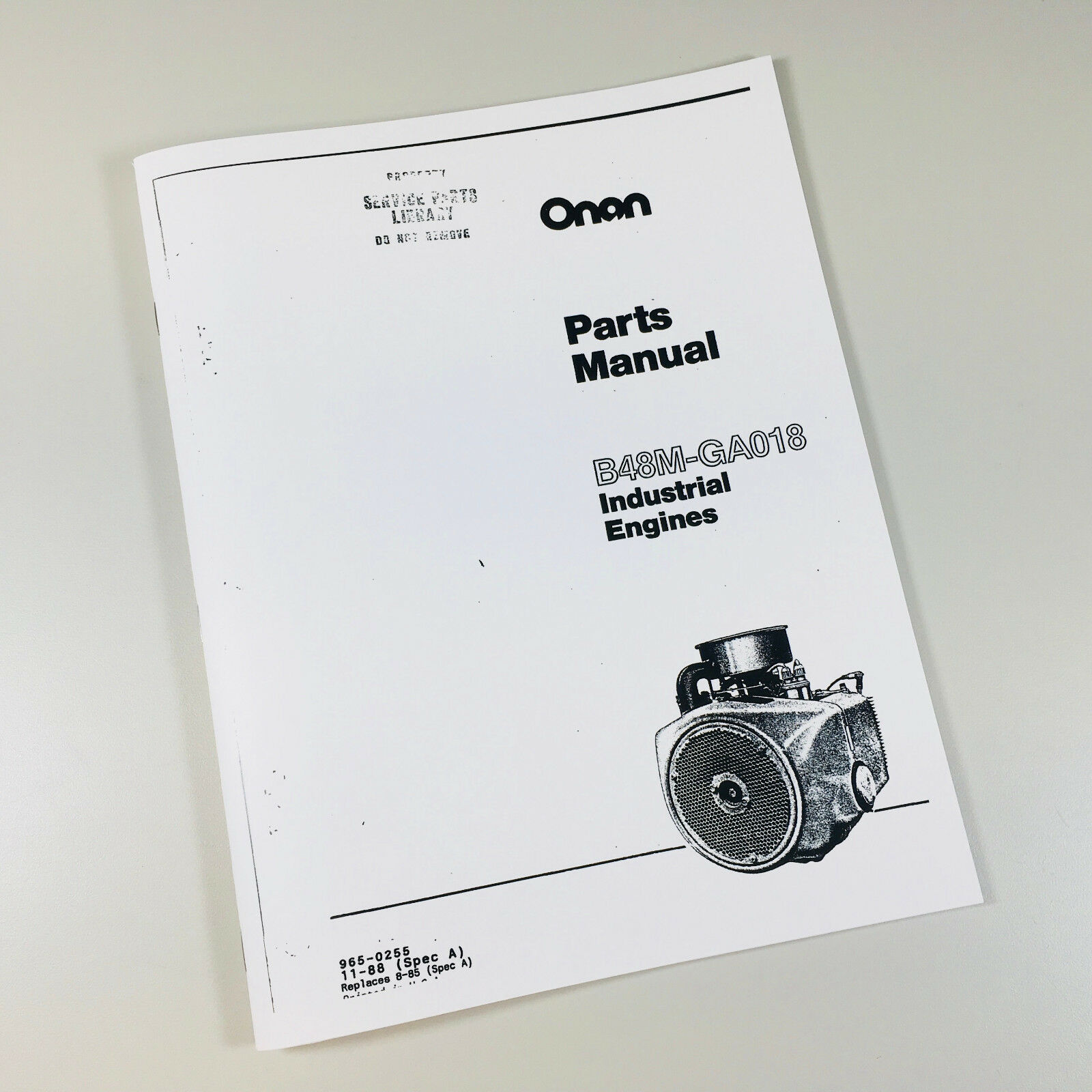 Details about ONAN B48M GA018 INDUSTRIAL ENGINES PARTS MANUAL MAINTENANCE  CATALOG SPEC A