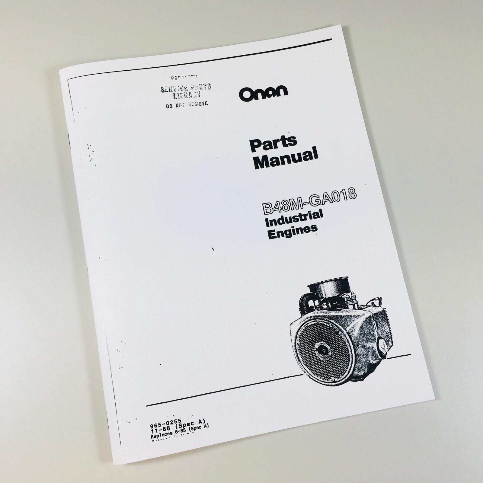 onan b48m ga018 industrial engines parts manual maintenance catalog spec a  | ebay  ebay