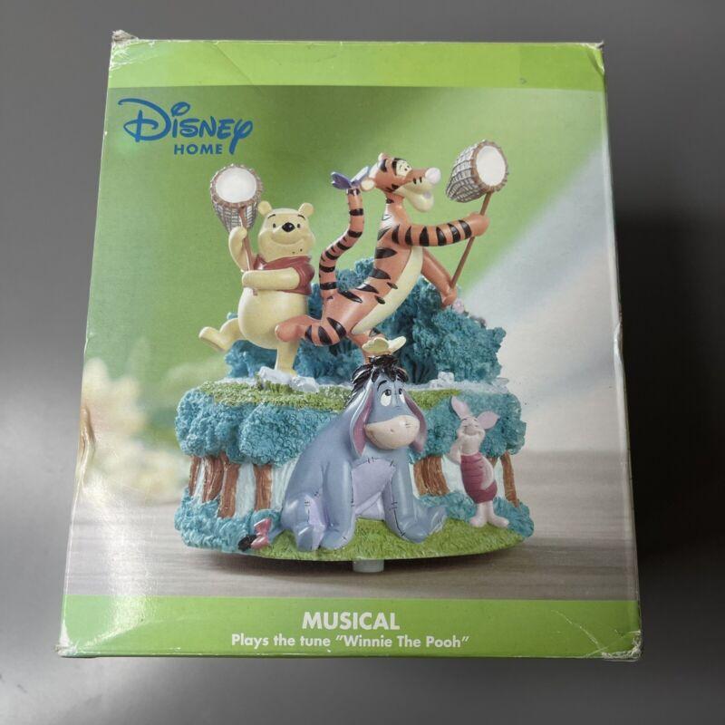 "Vintage Enesco Disney Home ""Winnie The Pooh"" Wind Up Musical Figurine 11282"