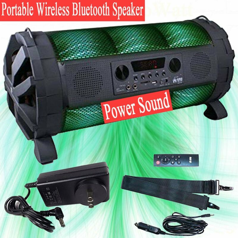 """DOUL 8"""" Portable Wireless Stereo DJ Bluetooh Speakers Boombox Rechargeable Loud"""