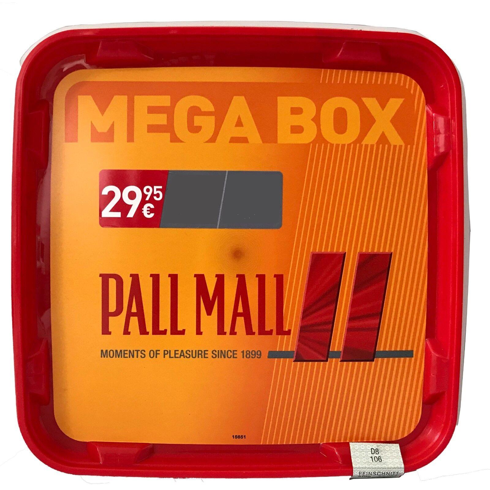 4 Pall Mall Volumentabak Mega Box 210g, Authentic Xtra Hülsen, Zubehör