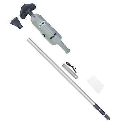 Intex 28620E Manual Rechargeable Handheld Swimming Pool Vacuum Cleaner, Gray