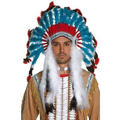 Erwachsene Deluxe Wilder Westen Indianer Häuptling Kopfschmuck Kostüm - Indianer Häuptling Kostüm Zubehör