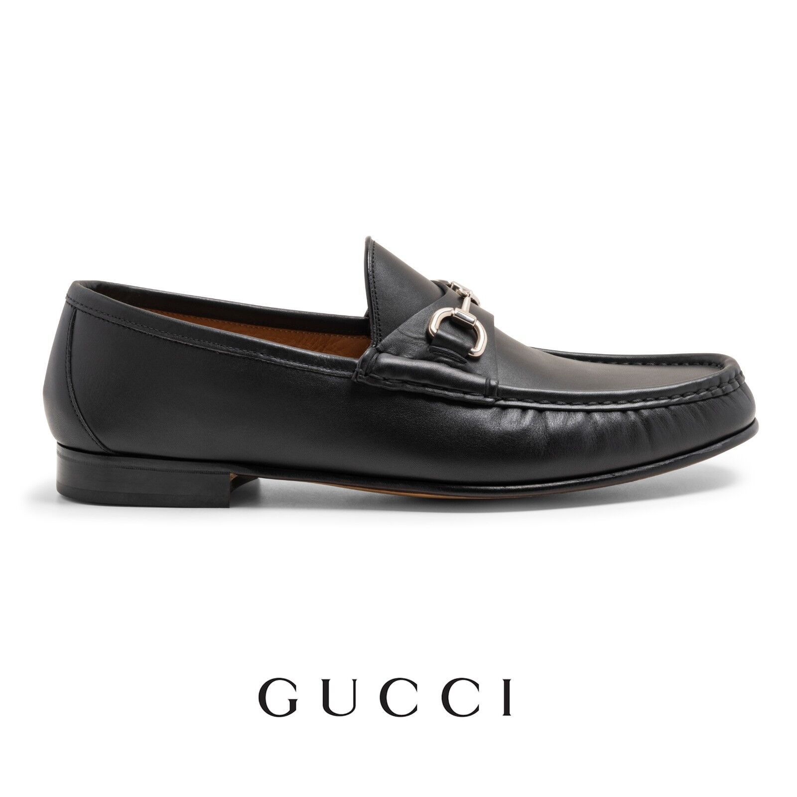 Gucci Leather Shoes Men's Loafers Size UK 11 US 12 Brand New With Box RRP 495